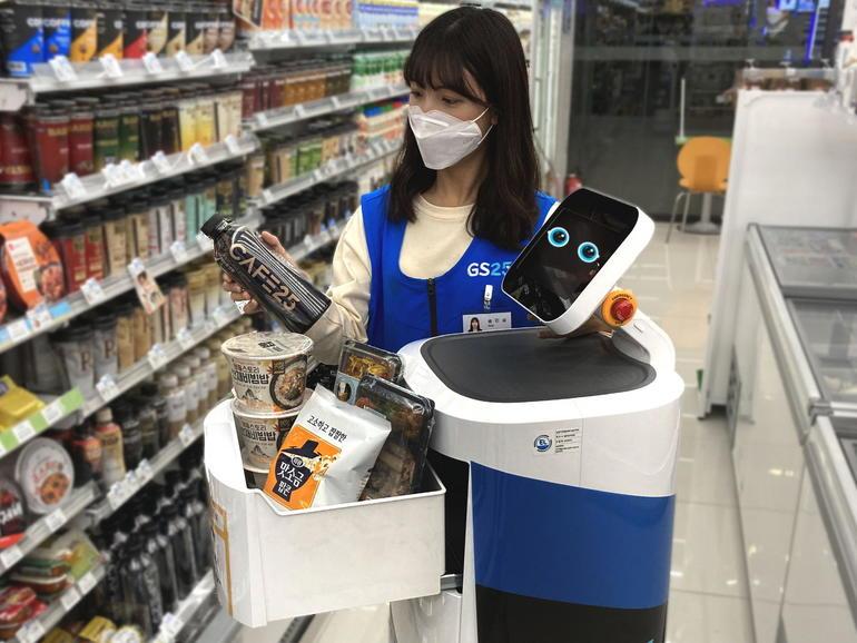 LG inicia la prueba del servicio de entrega de robots en interiores