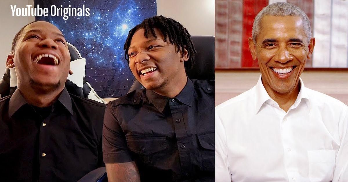 Obama sorprende a los gemelos musicales de YouTube mientras escuchan su nueva lista de reproducción