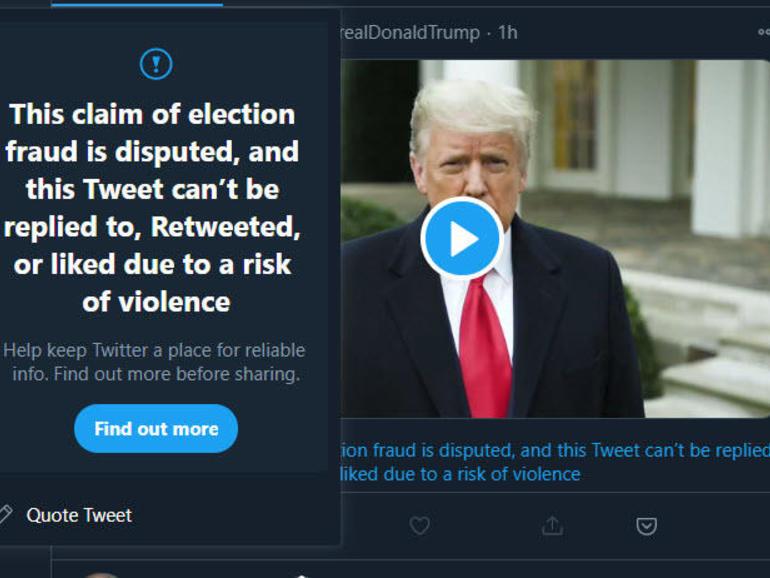 """Después de los tuits incendiarios, Twitter amenaza a Donald Trump con una """"suspensión permanente"""""""