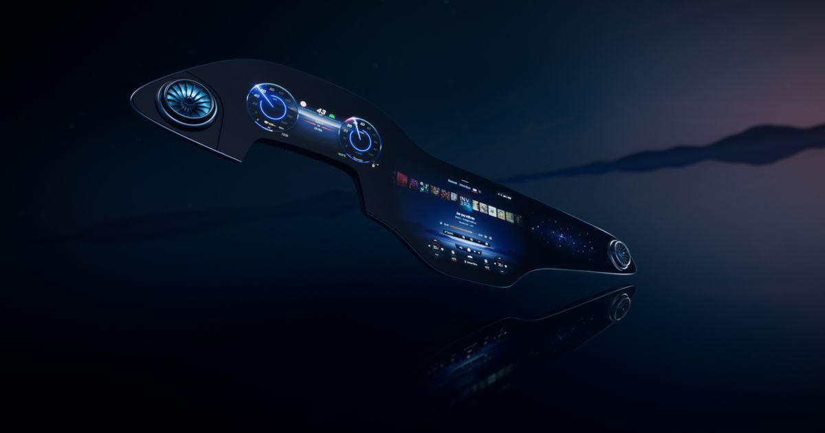 Mercedes-Benz presenta Hyperscreen, un extenso tablero de automóvil de 56 pulgadas