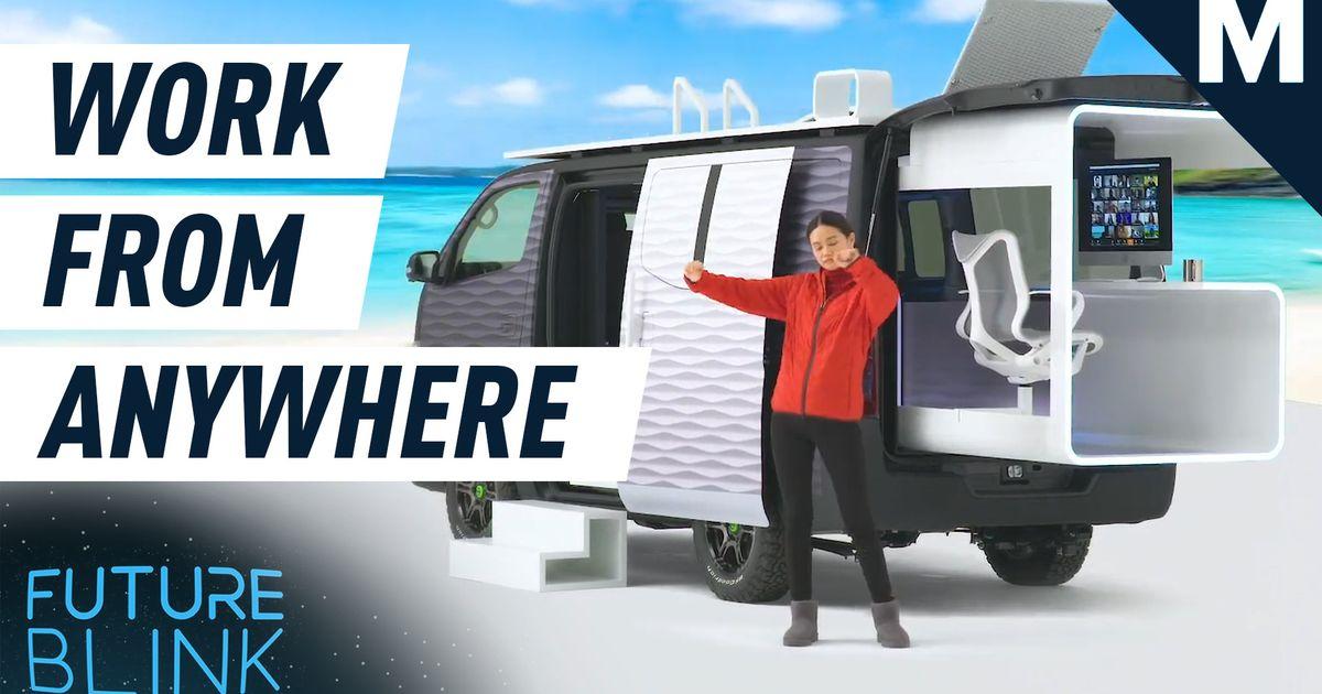 Nissan diseñó un concepto de caravana de cápsulas de oficina para que pueda trabajar desde cualquier lugar - Future Blink