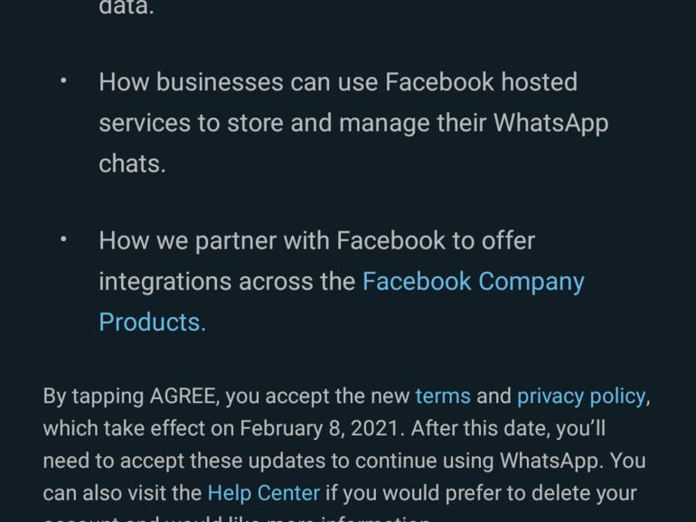 WhatsApp retrasa la actualización de los términos de privacidad, tómalo o déjalo, hasta mayo