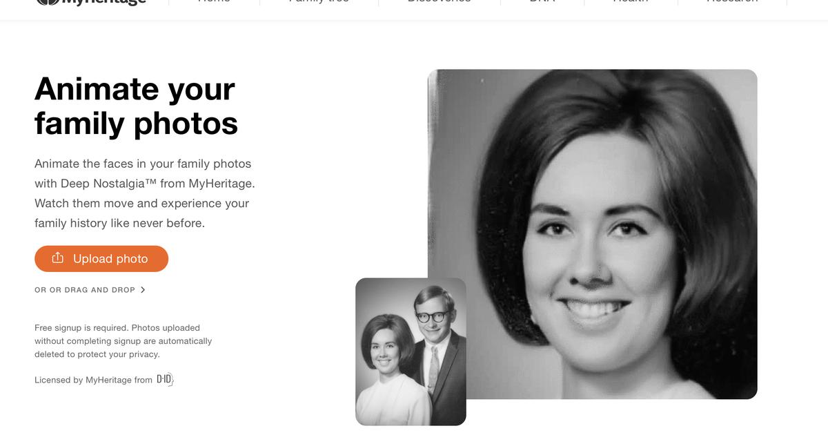 Ancestry Company utiliza deepfakes para dar vida a fotos antiguas