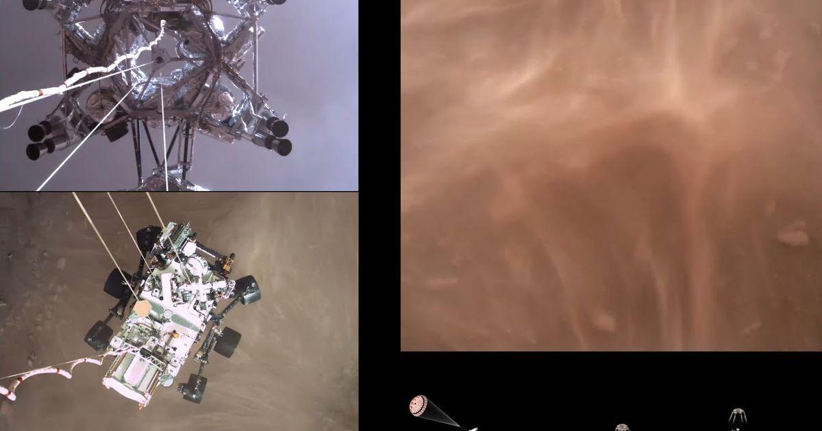 La perseverancia aterriza en Marte en un video nunca antes visto