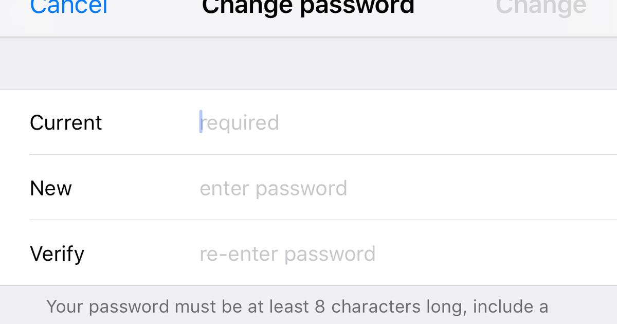 Cómo cambiar la contraseña de ID de Apple de su iPhone
