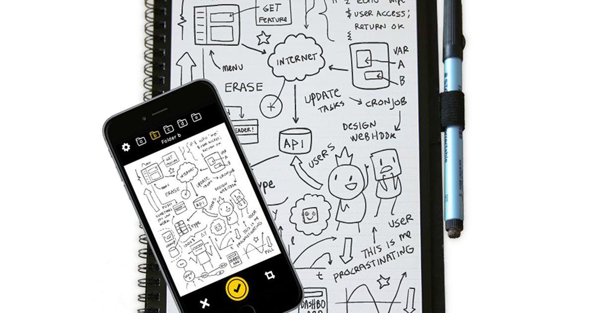 Exprese sus ideas antes de solidificarlas con este cuaderno de pizarra reutilizable