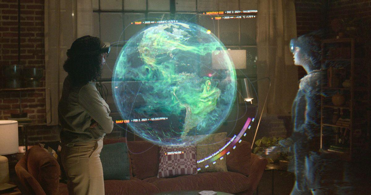 Olvídese de Zoom.  Microsoft quiere que hable con hologramas.