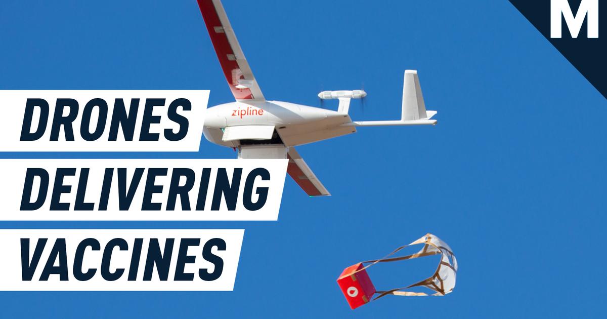 Los drones están entregando vacunas COVID-19 en África a través de 'carreteras en el cielo'