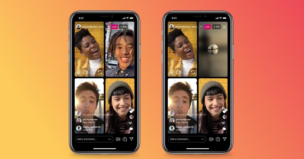 Podrás apagar tu sonido o video en Instagram Live Rooms