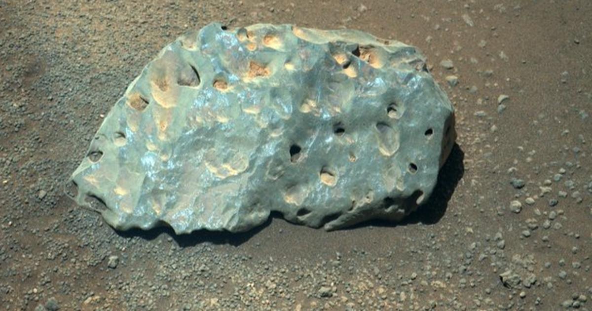 Vea dónde la NASA golpeó esta extraña roca marciana con un láser