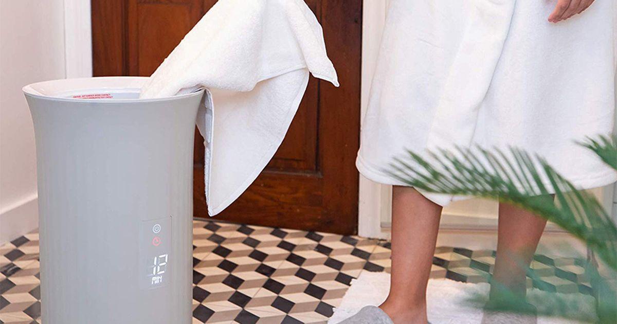 Disfrute de una experiencia de spa en casa con este lujoso calentador de toallas
