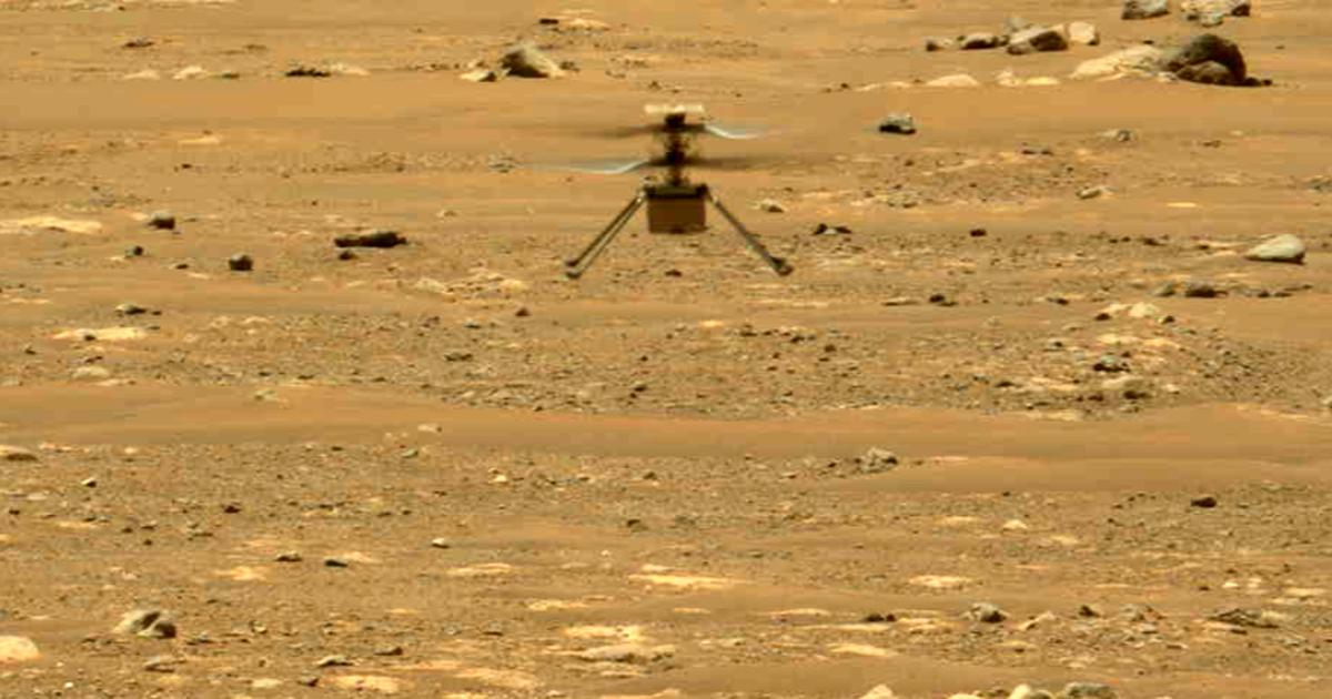 Escuche el zumbido del helicóptero Marte de la NASA mientras despega